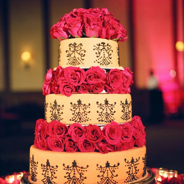 Moroccan Themed Wedding Cake